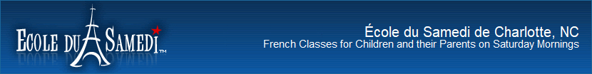 French Classes for Children and their Parents on Saturday Mornings